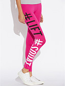 cheap Leggings-Women's Daily Wear Print Legging - Letter, Print High Rise / Seamless Panties / Sporty Look / Skinny