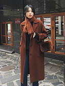 preiswerte Damenmäntel und Trenchcoats-Damen - Solide Retro Mantel Wolle / Kunst-Pelz überdimensional