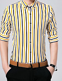 رخيصةأون بولو رجالي-رجالي قطن قميص نحيل النمط الصيني طباعة / كم طويل