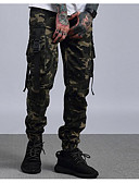 billige Herrebukser og shorts-Herre Militær Bomuld Lastbukser Bukser camouflage