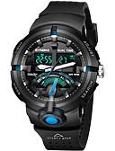 cheap Men's Tees & Tank Tops-Men's Sport Watch Japanese Quartz 30 m Casual Watch PU Band Analog-Digital Casual Black / Green / Grey - Black / Green Green Black / Blue