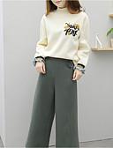 זול חולצה-מכנס פרחוני - טישרט משי יום יומי בגדי ריקוד נשים / חורף