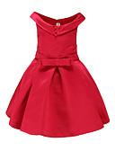 baratos Vestidos para Meninas-Infantil Para Meninas Simples Para Noite / Casual Sólido / Borboleta Estampado Sem Manga Vestido / Algodão / Fofo / Princesa