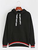 preiswerte Damen Kapuzenpullover & Sweatshirts-Damen Ausgehen Grundlegend Kapuzenshirt Buchstabe / Frühling