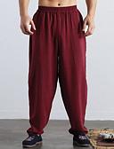 cheap Men's Pants & Shorts-Men's Linen Wide Leg Pants - Solid Colored