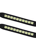 זול טישרט-2pcs מכונית נורות תאורה 10W COB 1 אורות יום For אוניברסלי כל השנים