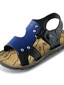 halpa Naisten alaosat-Poikien Kengät PU Kesä Comfort Sandaalit varten Ruskea / Sininen