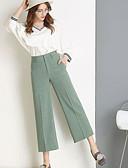 tanie Damskie spodnie-Damskie Vintage Luźna Spodnie Jendolity kolor