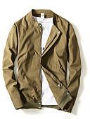 זול חולצות לגברים-Houndstooth ג'קט - בגדי ריקוד גברים כותנה / שרוול ארוך