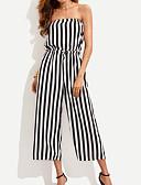 povoljno Ženski jednodijelni kostimi-Žene Praznik Pamuk Jumpsuits Color block Lađa izrez