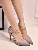 preiswerte Damen Röcke-Damen Schuhe Nubukleder Frühling / Herbst Komfort High Heels Stöckelabsatz Schwarz / Grau