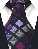 cheap Men's Ties & Bow Ties-Men's Work Basic Rayon Necktie - Color Block Check Jacquard Modern Style