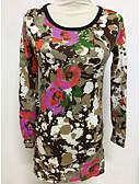 זול סוודרים לנשים-גיאומטרי - סוודר שרוול ארוך בגדי ריקוד נשים