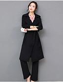 זול טרנינגים וקפוצ'ונים לנשים-צווארון V מכנס אחיד - סט בגדי ריקוד נשים