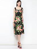 זול שמלות נשים-כתפיה דפוס, פרחוני - שמלה גזרת A בוהו בגדי ריקוד נשים