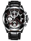 preiswerte Quartz-CADISEN Herrn Armbanduhr Chinesisch Kalender / Wasserdicht / Stopuhr Echtes Leder Band Modisch Schwarz / Nachts leuchtend / Sony SR920SW / Zwei jahr