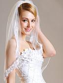 preiswerte Hochzeitsschleier-Einschichtig Spitzen-Saum / Schleier Hochzeitsschleier Fingerspitzenlange Schleier mit Spitze Spitze / Tüll / Klassisch