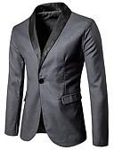 זול סוודרים וקרדיגנים לגברים-אחיד קולור בלוק דש שאל רזה עסקים מקרית בלייזר-בגדי ריקוד גברים / אנא בחר\י מידה אחת גדולה יותר מהמידה הנורמלית שלך. / שרוול ארוך / עבודה