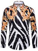 זול סוודרים וקרדיגנים לגברים-פרחוני / גיאומטרי וינטאג' כותנה, חולצה - בגדי ריקוד גברים / שרוול ארוך