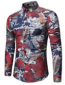 cheap Men's Shirts-Men's Street chic Cotton Shirt Print