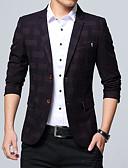 זול מכנסיים ושורטים לגברים-משובץ מידות גדולות בלייזר-בגדי ריקוד גברים
