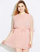זול שמלות נשים-מעל הברך אחיד - שמלה ישרה מידות גדולות פעיל ליציאה בגדי ריקוד נשים