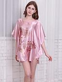billige Truser-Dame Ultrasexy Sateng og silke Pyjamas-Blomstret,Blomster