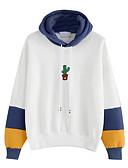 preiswerte Damen Kapuzenpullover & Sweatshirts-Damen Ausgehen Grundlegend Kapuzenshirt - Druck, Einfarbig