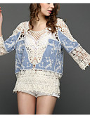 povoljno Majica s rukavima-Žene Plava Hlače Prikriti Kupaći kostimi - Jednobojni Čipka One-Size