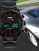Недорогие Цифровые часы-SKMEI Муж. Спортивные часы Японский Цифровой Нержавеющая сталь Черный 50 m Защита от влаги Календарь Секундомер Аналого-цифровые Роскошь На каждый день Мода - Красный Зеленый Синий / Хронометр
