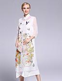 זול שמלות נשים-עומד פרח, פרחוני - שמלה משוחרר סגנון סיני בגדי ריקוד נשים