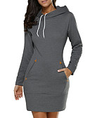 cheap Women's Hoodies & Sweatshirts-Women's Going out Street chic Cotton Slim Long Hoodie - Solid Colored