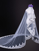 cheap Wedding Veils-One-tier Wedding / Bridal Wedding Veil Cathedral Veils with Lace Tulle / Classic