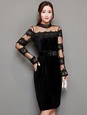 hesapli Kadın Gecelikleri-Kadın's Kılıf Elbise - Solid Boğazlı