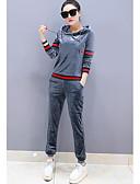ieftine Costum Damă Două Bucăți-Pentru femei Hanorac cu Glugă - Bloc Culoare, Pantaloni Capișon / Toamnă