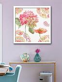 billige Kjoler-Botanisk Blomstret/Botanisk Tegning Vægkunst,PVC Materiale Med Ramme For Hjem Dekoration Ramme Kunst Stue Soveværelse Køkken Spisestue