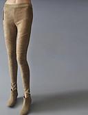 tanie Sukienki-Damskie Podszyte polarem Legging-Klasyczny,Jendolity kolor