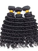 זול טרנינגים וקפוצ'ונים לגברים-3 חבילות שיער ברזיאלי גל עמוק שיער אנושי טווה שיער אדם 8-28 אִינְטשׁ שוזרת שיער אנושי תוספות שיער אדם בגדי ריקוד נשים