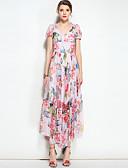 preiswerte Damen Kleider-Damen Boho Swing Kleid - Druck, Tierfell-Druck V-Ausschnitt