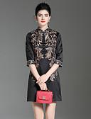 זול שמלות נשים-עומד פרח, פרחוני - שמלה גזרת A סגנון סיני בגדי ריקוד נשים