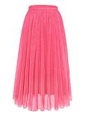 billige Nederdele-Dame Normal Gynge Nederdele Ensfarvet