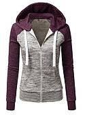 olcso Női kapucnis felsők és pulóverek-Női Pamut Nadrág - Színes Modern stílus Rubin / Ősz / Tél / Sportos look
