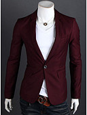 cheap Men's Blazers & Suits-Men's Business Casual Slim Blazer-Solid Colored,Basic