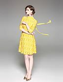 זול שמלות נשים-עומד קולור בלוק - שמלה גזרת A נדן בגדי ריקוד נשים