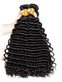 זול טרנינגים וקפוצ'ונים לגברים-3 חבילות שיער ברזיאלי גל עמוק שיער אנושי טווה שיער אדם שוזרת שיער אנושי תוספות שיער אדם בגדי ריקוד נשים