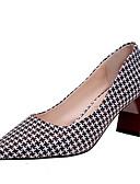 זול שמלות נשים-בגדי ריקוד נשים נעליים בד / PU אביב / סתיו נוחות עקבים עקב עבה שחור / קפה / אדום