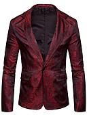 preiswerte Abendkleider-Herrn Solide Street Schick Sport Standard Blazer, Hemdkragen Winter Herbst Polyester