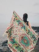 זול צעיפים אופנתיים-מלבן - צבעוני, כותנה סגנון וינטג' בגדי ריקוד נשים