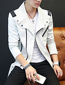 cheap Men's Jackets & Coats-Men's Club Punk & Gothic Street chic Coat-Solid Colored