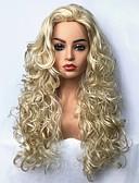 זול עליוניות לנשים-פאות סינתטיות מתולתל בלונד שיער סינטטי בלונד פאה ארוך ללא מכסה בלונדינית StrongBeauty
